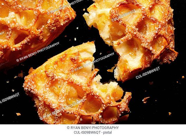 Apple breakfast pastries, overhead view