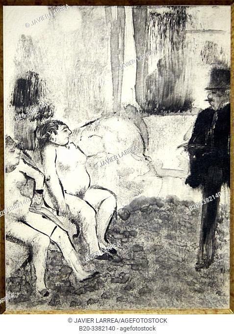"""""""Le Client"""", 1879, Edgar Degas, Picasso Museum, Paris, France, Europe"""