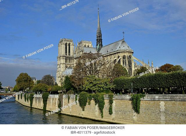 Notre Dame on the Seine river, Paris, France