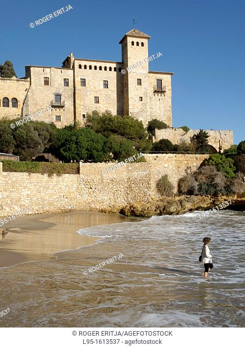 Castle of Tamarit privately owned, located between Altafulla and Tarragona, Catalonia, Spain
