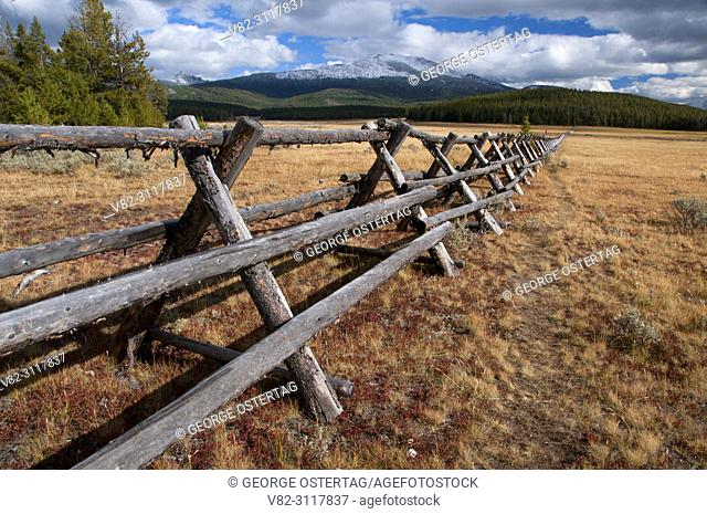 Harrison Park fence, Pioneer Mountains National Scenic Byway, Beaverhead-Deerlodge National Forest, Montana