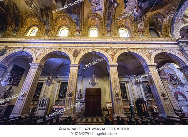 Saint Mary of the Announcement Cathedral in Acireale coastal city and comune in the Metropolitan City of Catania, Sicily, Italy