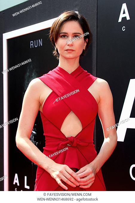 Sir Ridley Scott Hand and Footprint Ceremony Featuring: Katherine Waterston Where: Hollywood, California, United States When: 18 May 2017 Credit:...