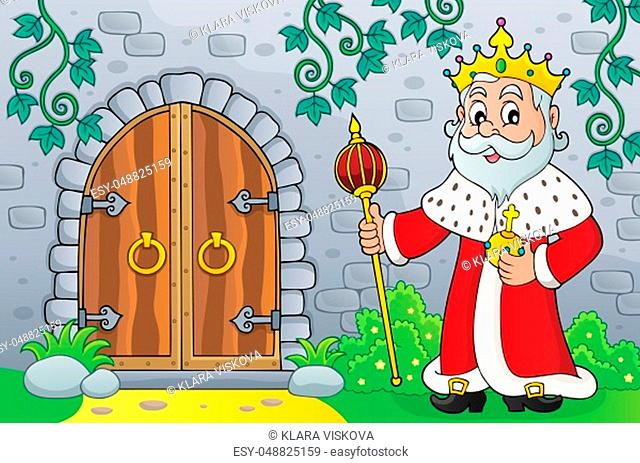 King by old door topic image 1 - picture illustration