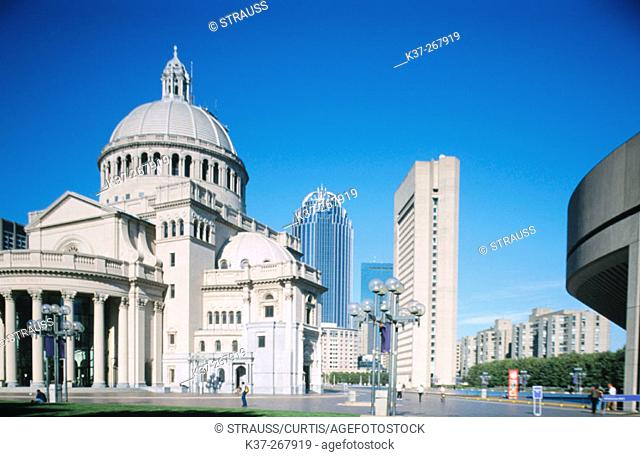 Christian Science church. Boston. Massachusetts. USA