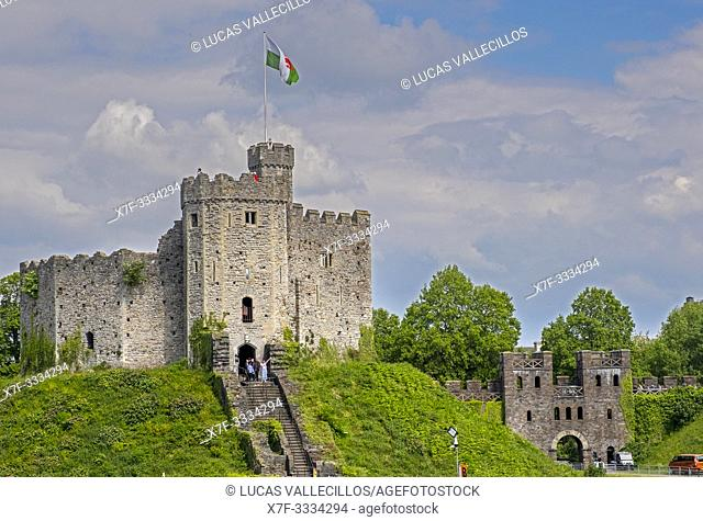 Norman Keep, Cardiff Castle, Cardiff, Wales