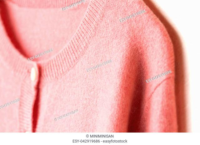 Beautiful, luxurious, knitted cardigan in pink, autumn, winter, warm