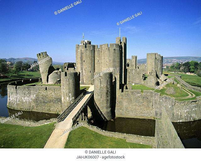 Caerphilly Castle, Glamorgan, Wales, UK