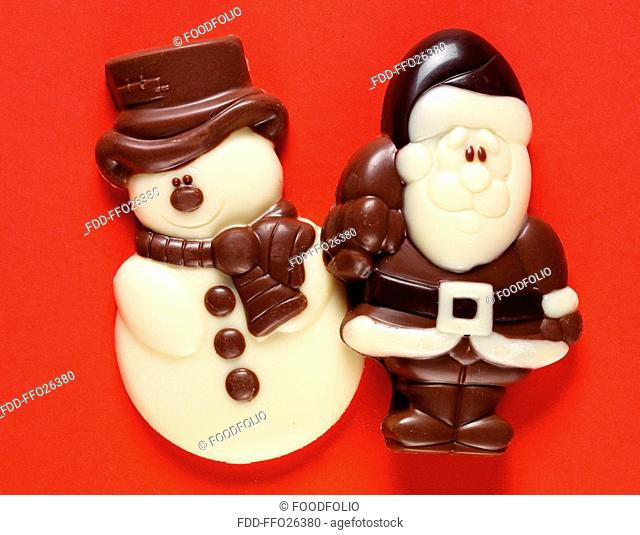 Santa And Snowman Chocolates