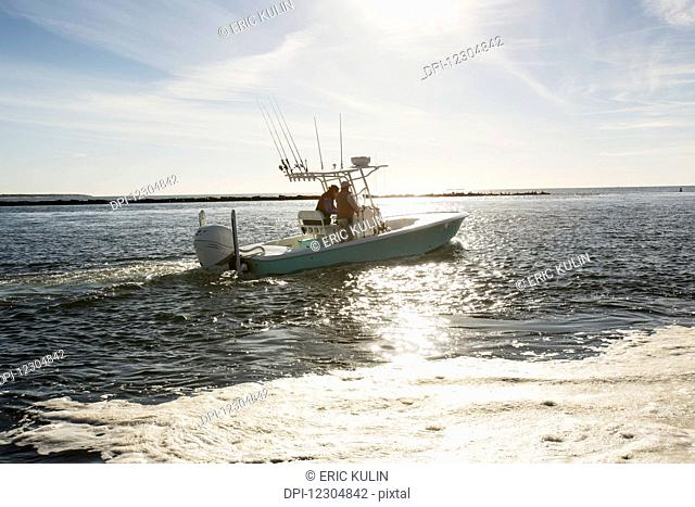 Blue fin tuna fishing off the coast of Cape Cod; Massachusetts, United States of America