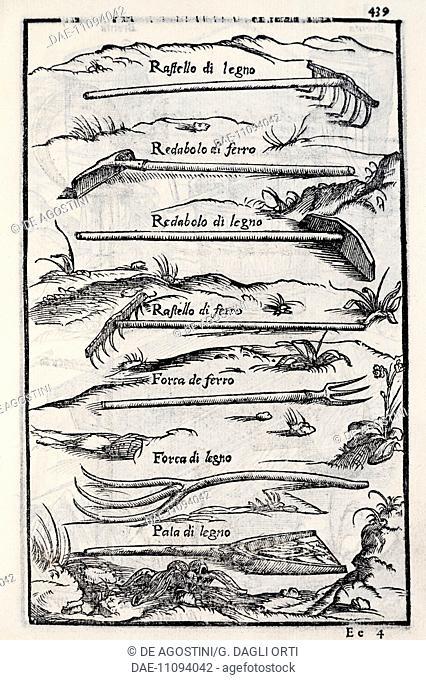 Tools to work the land, table from Le venti giornate dell'agricoltura e dei piaceri della villa (The twenty days of agriculture and the pleasures of the villa)