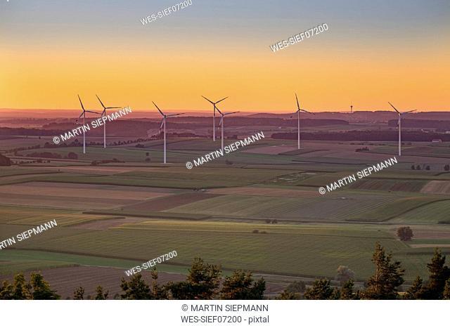 Germany, Bavaria, Franconia, Gunzenhausen-Wassertruedingen, wind park
