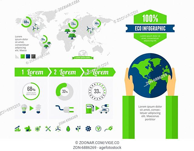 Modern flat design ecology vector infographic template