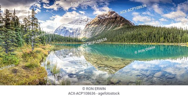 Mount Edith Cavell, Jasper National Park, Alberta, Canada (digitally spliced panorama)