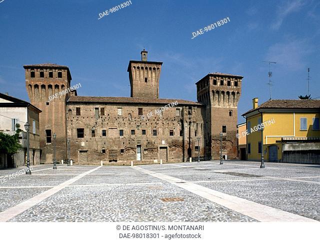 Rocche Castle, before the 2012 earthquake, Finale Emilia, Emilia-Romagna. Italy, 15th century