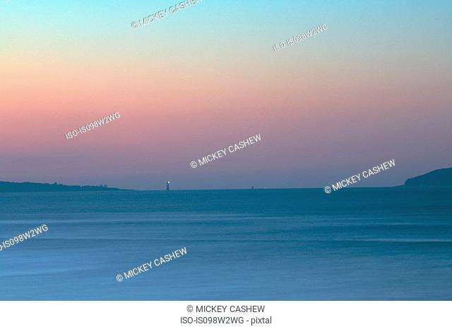 Seascape at sunset, Menai Strait, North Wales, UK