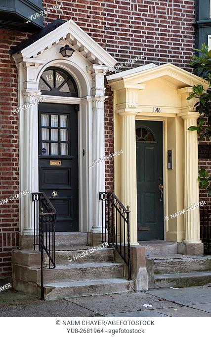 Detail of Luxury Apartments, old city, Philadelphia, Pennsylvania, USA