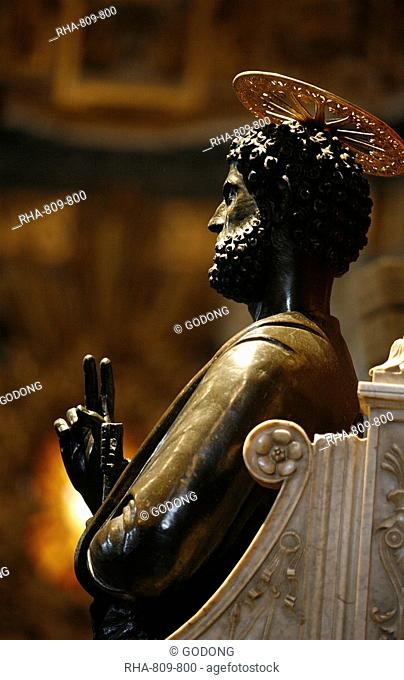 Statue of St. Peter in St. Peter's Basilica, Vatican, Rome, Lazio, Italy, Europe