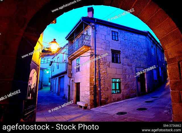 Arch in the old Town of Allariz, Orense, Spain