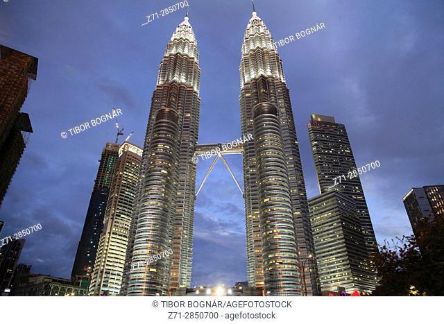 Malaysia, Kuala Lumpur, Petronas Twin Towers,