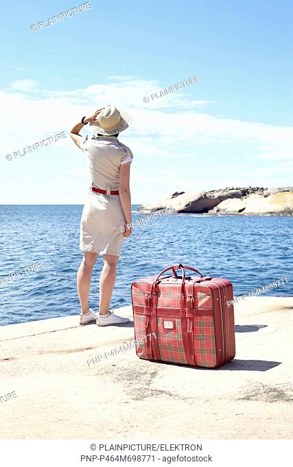 Woman looking far