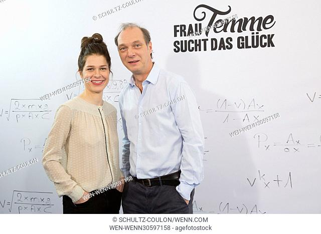 """Actors promoting the new Series """"""""Frau Temme sucht das Glueck"""""""" at Side Hotel Featuring: Meike Droste, Martin Brambach Where: Hamburg"""