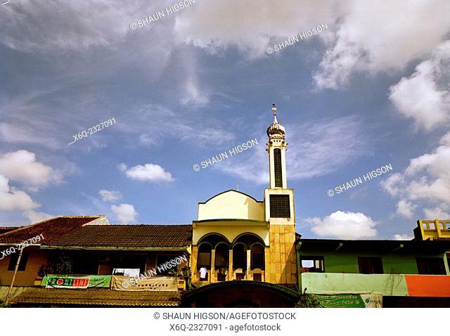 Urban mosque in Yogyakarta in Java in Indonesia in Southeast Asia Far East