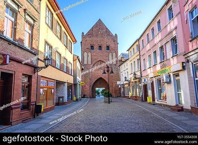 Brama Kamienna- Stone Gate in Swidwin, capital of Swidwin County in West Pomeranian Voivodeship of northwestern Poland