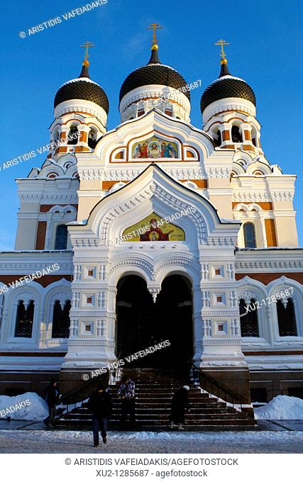 Alexander Nevsky cathedral in Toompea  Christmas in Tallin Estonia