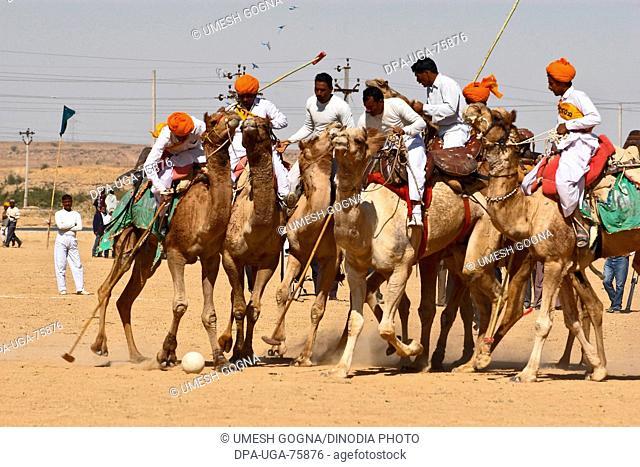 Camel Polo Match , Desert Festival 2004 , Jaisalmer , Rajasthan , India