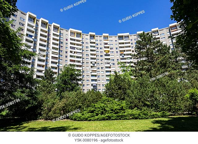 Berlin, Germany. Gropiusstadt projects and apartment buildings. Build in the sixties and seventies, aimed at low wage residents, people and families