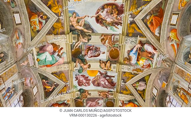Sistine Chapel, Vatican Museums, Vatican, Rome, Italy, Europe