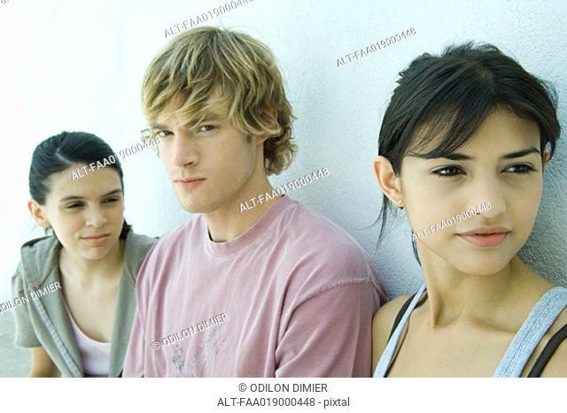 Young friends, portrait