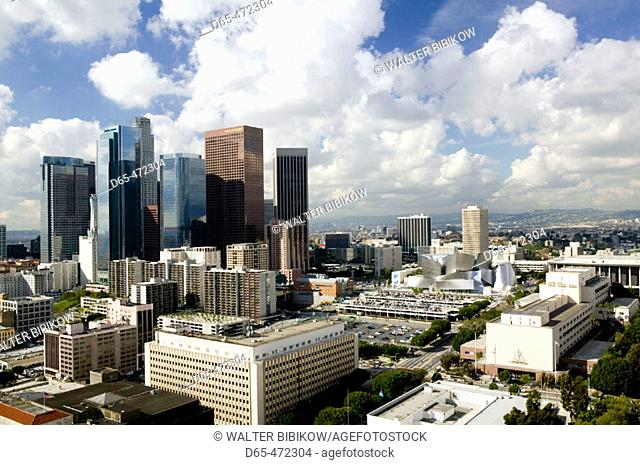 Morning View of Dowtown from Los Angeles City Hall. Downtown. Los Angeles. California. USA