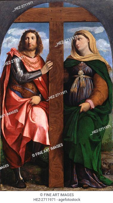 Exaltation of the Cross. Saints Constantine the Great and Helena, 1520-1522. Creator: Palma il Vecchio, Jacopo, the Elder (1480-1528)