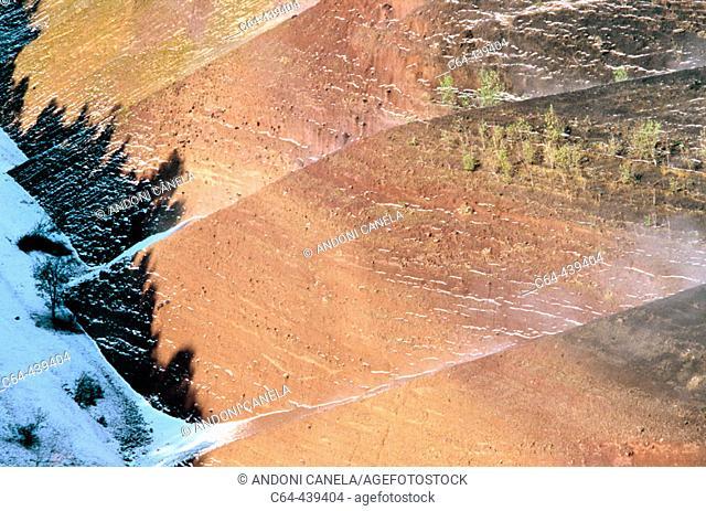 Volcano crater. La Garrotxa Natural Reserve. Catalonia. Spain