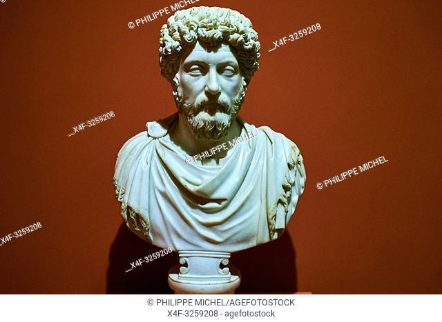 Turkey, Izmir province, Selcuk city, archaeological site of Ephesus, museum, Marcus Aurelius statue