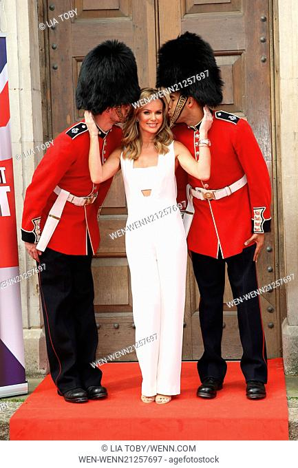 Britain's Got Talent - press launch held at St Luke's Church - Arrivals Featuring: Amanda Holden Where: London, United Kingdom When: 09 Apr 2014 Credit: Lia...