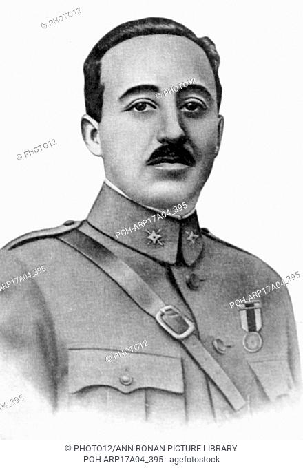 1931 photograph of Francisco Franco 1892-1975. Nationalist leader of Spain 1936-1975