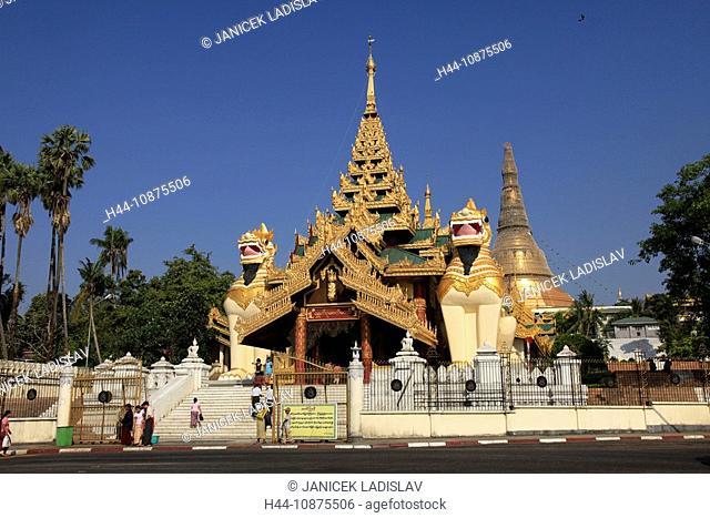 Myanmar, Burma, Birma, Rangoon, Yangon, South Gate of the Shwedagon pagoda