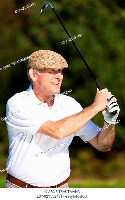 Golfspielen – Abschlag