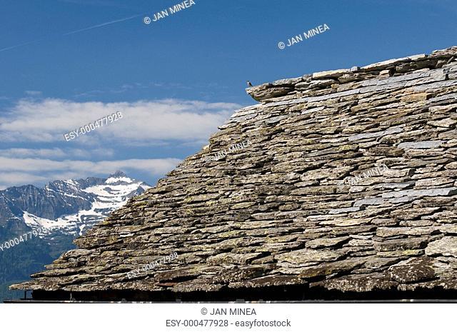 Dach über die Landschaft