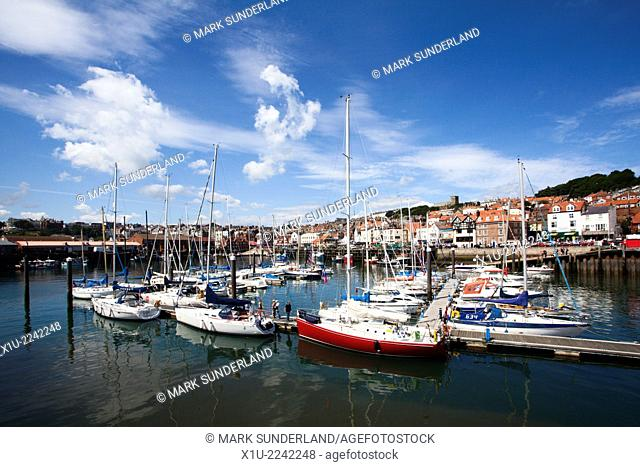 The Old Harbour and Sandside Scarborough North Yorkshire England