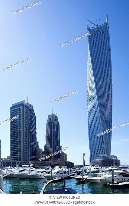 Infinity Tower is a 306 metres (1,004 ft) tall 76 storey supertall skyscraper under construction in Dubai, United Arab Emirates