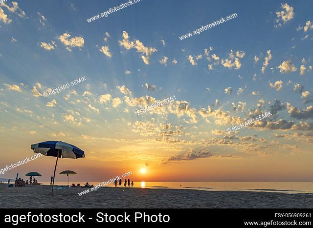 Sunset in Rodi Garganico, National park Gargano, Apulia, Italy