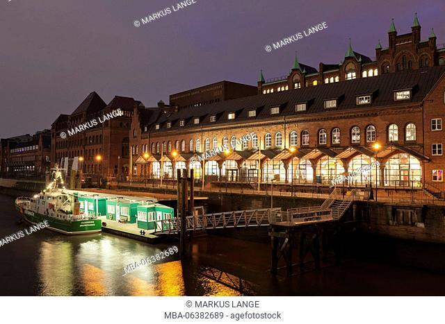 Deutsches Zollmuseum, Zollkanal (canal), Speicherstadt / warehouse district, Hamburg, Germany