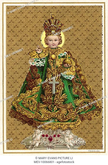 The miraculous Holy Infant of Prague was revealed by his mother Mary to Saint Cyril of the Mother of God, a barefoot Carmelite monk, at Prague