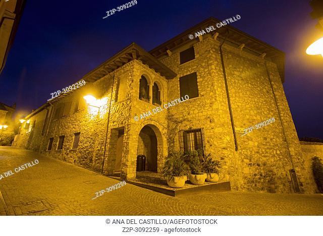 Twilight in Sirmione, Garda lake, Lombardy, Italy