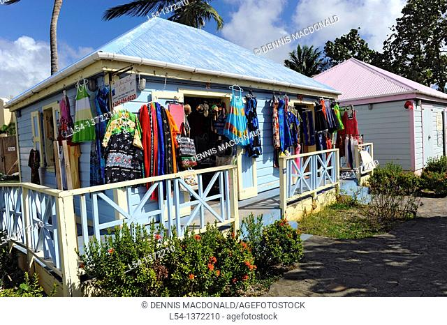 Gift Shops Road Town Tortola BVI Caribbean Cruise Colorful