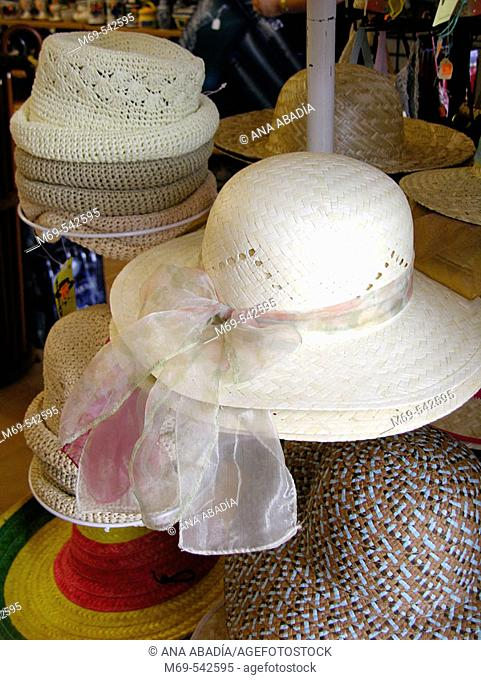 Hats in a shop
